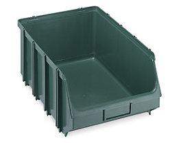 Terry Sichtlagerkasten, selbsttragend - LxBxH 500 x 307 x 190 mm - grün, VE 4 Stk