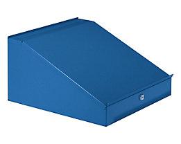 Wolf Schreibpultaufsatz mit aufklappbarem Deckel - Höhe 95 / 275 mm, BxT 495 x 495 mm - brillantblau