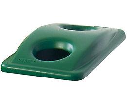 Kunststoff-Deckel - mit Einwurflöchern für Flaschen - grün