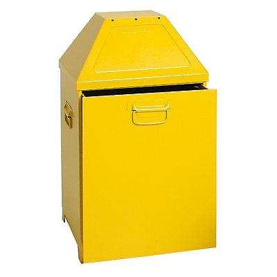 Abfallbehälter, selbstlöschend - mit 79 Liter Volumen, Einsatz herausziehbar