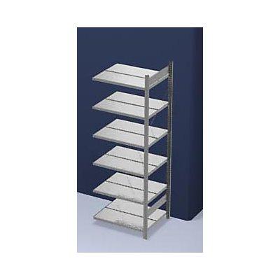 hofe Akten-Steckregal, verzinkt - Regalhöhe 2000 mm, doppelseitig