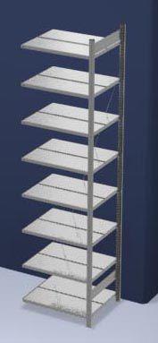 hofe Akten-Steckregal, verzinkt - Regalhöhe 2700 mm, doppelseitig
