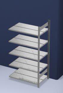 hofe Akten-Steckregal, verzinkt - Regalhöhe 1750 mm, doppelseitig