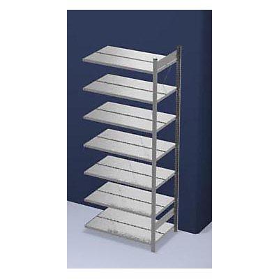 hofe Akten-Steckregal, verzinkt - Regalhöhe 2350 mm, doppelseitig