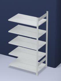 hofe Akten-Steckregal, RAL 7035 - Regalhöhe 1750 mm, doppelseitig