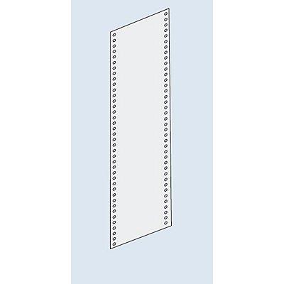 Habillage paroi latérale - tôle pleine, hauteur 2500 mm