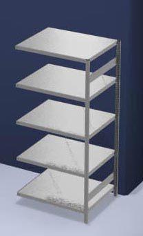 hofe System-Steckregal, Bauart leicht, verzinkt - Regalhöhe 2000 mm