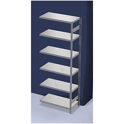 hofe System-Steckregal, Bauart leicht, verzinkt - Regalhöhe 2500 mm