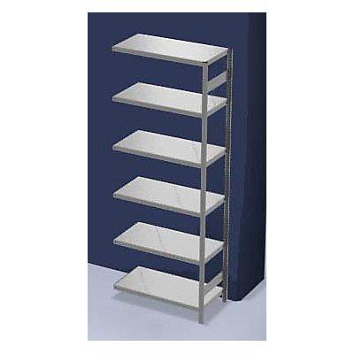hofe System-Steckregal, Bauart mittelschwer - Regalhöhe 2500 mm - Anbauregal, Breite x Tiefe 1000 x 300 mm