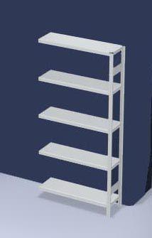 hofe System-Steckregal, Ausführung leicht, kunststoffbeschichtet - Regalhöhe 2000 mm