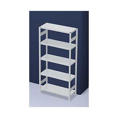 hofe System-Steckregal, Ausführung leicht, kunststoffbeschichtet - Regalhöhe 2000 mm - Grundregal, Breite x Tiefe 1000 x 500 mm