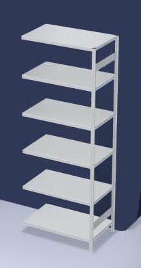 hofe System-Steckregal, Bauart mittelschwer, kunststoffbeschichtet - Regalhöhe 2500 mm