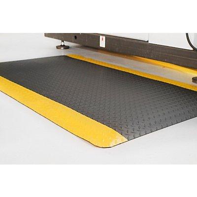 COBA Anti-Ermüdungsmatte, PVC / Neopren - Zuschnitt, max. 18,3 m, schwarz / gelb