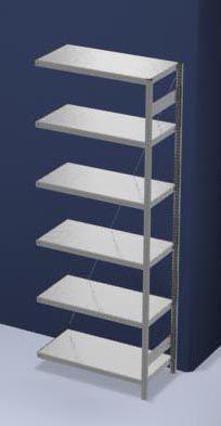 EUROKRAFT Schwerlast-Steckregal, verzinkt - Regalhöhe 2500 mm