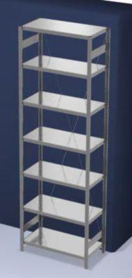 EUROKRAFT Schwerlast-Steckregal, verzinkt - Regalhöhe 3000 mm