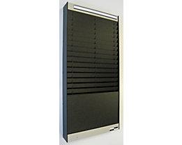 Dokumentensortiertafel - 2 x 16 Fächer, DIN A5, Dokumentenlage vertikal - schwarz, matt