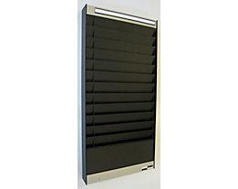 Dokumentensortiertafel - 1 x 12 Fächer, DIN A4, Dokumentenlage horizontal - schwarz, matt