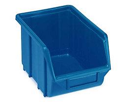 Terry Sichtlagerkasten aus Polypropylen - LxBxH 250 x 160 x 129 mm - blau, VE 30 Stk