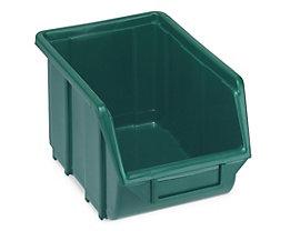 Terry Sichtlagerkasten aus Polypropylen - LxBxH 250 x 160 x 129 mm - grün, VE 30 Stk