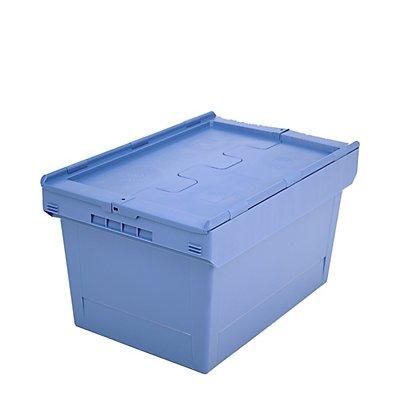 Mehrweg-Stapelbehälter mit Klappdeckel - Inhalt 76 Liter