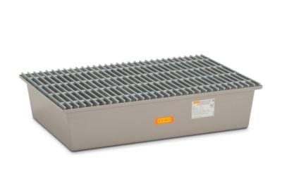 CEMO Boden-Auffangwanne - 2 x 200-l-Fass, mit Zulassung