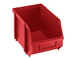 Terry Sichtlagerkasten, selbsttragend - LxBxH 234 x 147 x 129 mm - rot, VE 30 Stk