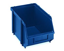 Sichtlagerkasten, selbsttragend - LxBxH 234 x 147 x 129 mm - blau, VE 30 Stk