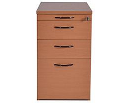 office akktiv CARINA Caisson fixe - 1 tirette plumier, 2 tiroirs, 1 tiroir pour dossiers suspendus