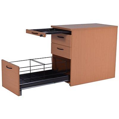 office akktiv CARINA Standcontainer - 1 Utensilienschub, 2 Materialschübe, 1 Hängeregistratur