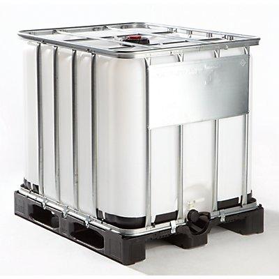 IBC Transport- und Lagertank auf Kunststoffpalette - Inhalt 1000 Liter