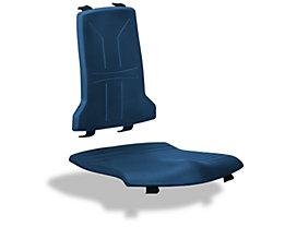 Polster - VE = je 1 Polster für Sitz und Rückenlehne - Integralschaum, dunkelblau