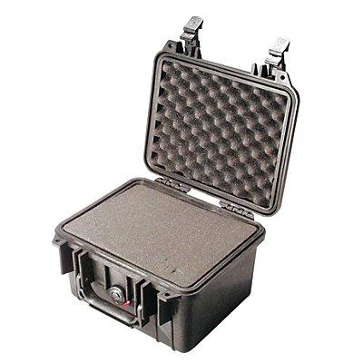PELI Schutzkoffer aus PP - Inhalt 6,8 l, LxBxH 270 x 246 x 174 mm - mit Würfelschaumstoff