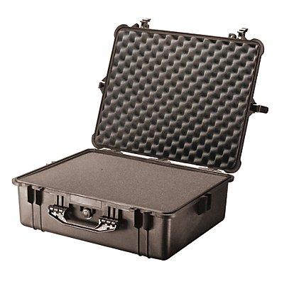 PELI Schutzkoffer aus PP - Inhalt 47,1 l, LxBxH 616 x 494 x 220 mm - mit Würfelschaumstoff