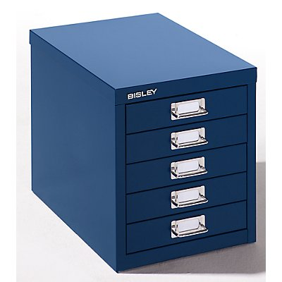 Bisley Schubladenschrank - 5 Schubladen für Format DIN A4 - lichtgrau