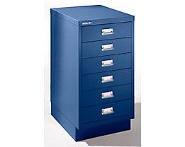 Bisley Schubladenschrank - 6 Schubladen für Format DIN A3 - kobaltblau