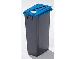 Kunststoff-Wertstoffsammler - Volumen 80 l - Einwurfschlitz, Wertstoffpiktogramme