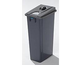 Kunststoff-Wertstoffsammler - Volumen 80 l - geschlossen, Wertstoffpiktogramme