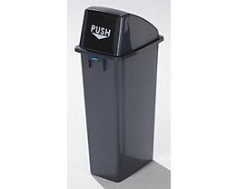 Kunststoff-Wertstoffsammler - Volumen 80 l - Einwurfklappe selbstschließend