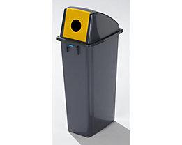 Kunststoff-Wertstoffsammler - Volumen 80 l - Einwurfloch rund