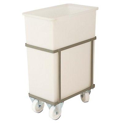 VECTURA Fahrgestell - für Behältergröße 70 l - 2 Lenk- und 2 Bockrollen