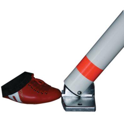 Sperrpfosten, Alu-Rundrohr, abschließbar - mit Fußpedal und Automatik