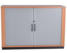 office akktiv CARINA Armoire à rideaux à lames verticales - 1 tablette, 2 hauteurs de classeurs