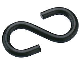 Crochets en S - en acier gainé de plastique, lot de 10 - noir