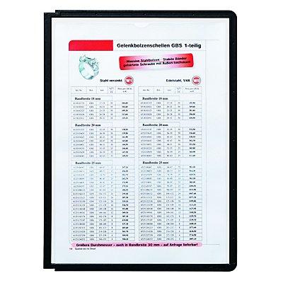 Durable Klarsichttafel mit Profilrahmen - für DIN A4, VE 10 Stk