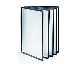 Durable Klarsichttafel mit Profilrahmen - für DIN A4, VE 10 Stk - schwarz