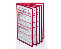 Durable Klarsichttafel mit Profilrahmen - für DIN A4, VE 10 Stk - rot