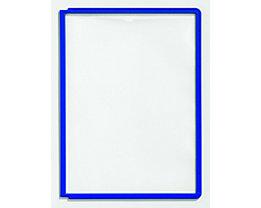 Durable Klarsichttafel mit Profilrahmen - für DIN A4, VE 10 Stk - blau