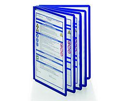 Durable Klarsichttafel mit Profilrahmen - für DIN A4, VE 10 Stk - blau, ab 3 VE