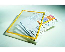 Durable Klarsichttafel mit Profilrahmen - für DIN A4, VE 10 Stk - gelb, ab 3 VE