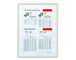 Durable Klarsichttafel mit Profilrahmen - für DIN A4, VE 10 Stk - grau, ab 3 VE